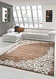 Traum Tappeto moderno design Tappeto orientale con Glitzergarn tappeto da salotto con motivo floreale a Heather Marrone…