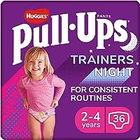 Huggies Pull-Ups Trainers Night, Girl, Size 2-4 Years, Nappy Size 5-6+, 36 BIG KID Training Pants
