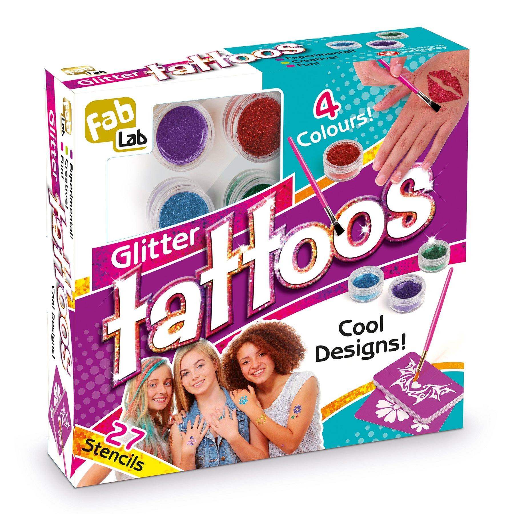 Henna Tattoo Kits For Kids: Glitter Kids Tattoos Set Kit Art Glue Temporary Stencils