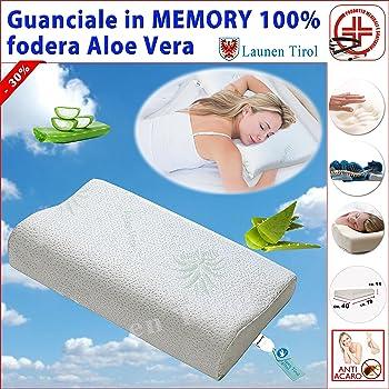 FACILCASA Cuscino Guanciale Cervicale-Ortopedico Memory Foam, Anallergico - 1PZ