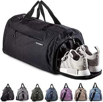 Fitgriff® Sporttasche für Damen und Herren - mit Schuhfach & Nassfach - Tasche für Sport & Fitness - Gym Bag, Trainingstasche (Klein & Medium)