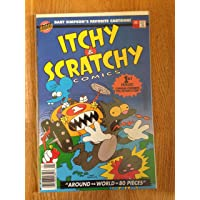 Itchy & Scratchy Comics 1st Issue Bongo Comics (Itchy & Scratchy, Around the World in 80 Pieces)