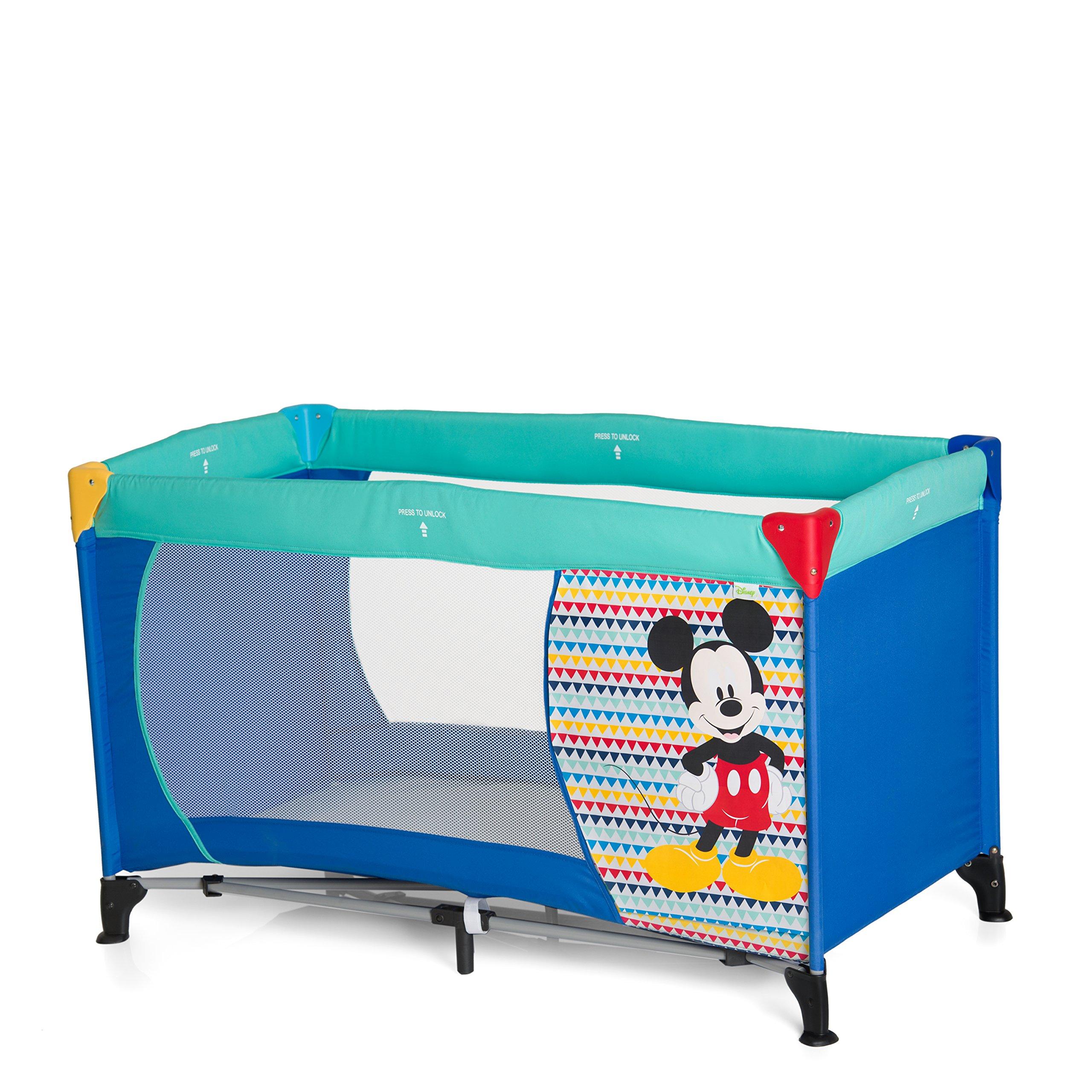 Hauck Dream N Play – Cuna de viaje para bebes a partir de 0 meses hasta 15 kg, incluido bolso de transporte, plegado y montaje fácil, lavable a mano, 127.5 x 69 x 76 cm, diseño Disney