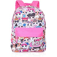 L.O.L. Surprise! Backpack For Girls And Teens Featuring All-Over Dolls Print | Kids LOL Bag For School Or Travel, Pink…