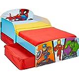 Worlds Apart Marvel Superheld-Kleinkinderbett mit Stauraum, 142x77x59cm