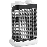 VonHaus Mini Radiateur Soufflant Céramique Tournant 750/1500 W — 2 modes de chauffage, Oscillation sur 90°, Protection anti-surchauffe, Blanc et gris - Maison - Chauffage