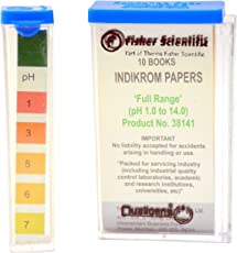NIKS Fisher Scientific Universal Full Range pH (1-14) Strips (200 Strips) Company Sealed.