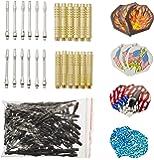 12 McDart Brass Darts +100 Spitzen + 30 Flights