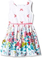 Happy Girls Girl's Butterfly Print Dress With Flowers