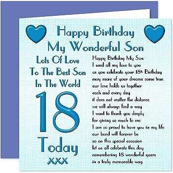 Son 18th Happy Birthday Card