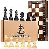 Scacchiera in Legno Professionale Scacchi - Chess, Scacchiere Set Portatile Gioco da Viaggio per Adulti Bambini 26 x 26 cm