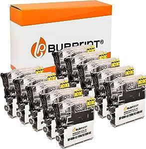 Bubprint 10 Druckerpatronen Kompatibel Für Brother Lc 1100 Lc 980 Bk Für Dcp 145c Dcp 195c Dcp 375cw Dcp J715w Mfc 490cw Mfc 5890cn Mfc 6490cw Schwarz Bürobedarf Schreibwaren