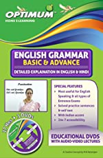 Optimum Educators English Grammar Basic & Advanced With English & Hindi Explanation Std 8,9 & 10 Educational DVDs