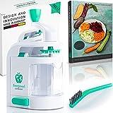 """freegreen Premium spiralskärare – inkluderar elektrisk kokbok """"The Spiral Cutter""""   Kompakt frukt- och grönsakshackare med 4"""