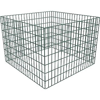 Anself Mesh Garden Composter Metal Bin 100 x 100 x 70 cm Square