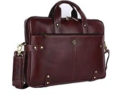 Hammonds Flycatcher Original Bombay Brown Leather 15.6 inch Laptop Messenger Bag (L=40,H=30, B=8 cm) LB104