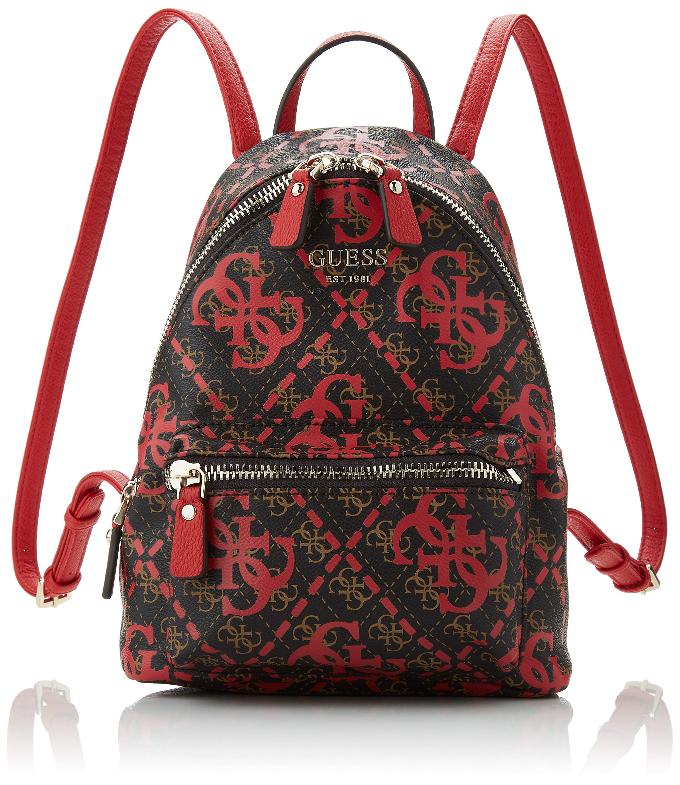 91B%2BkkjMSPL - Guess - Leeza Backpack, Mujer, Multicolor (Red Multi), 22x29x10.5 cm (W x H L)