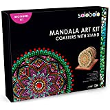 Solobolo Mandala Art Kit Coasters with Stand-Craft Kit with Dot Mandala Art Tools Kit for Beginners- Dot Mandala Art Kit with