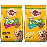 Pedigree Biscrok Biscuits Dog Treats (Above 4 Months), Milk and Chicken Flavor, 500g Pack & Biscrok Biscuits Valentines Gift