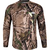 Men Camouflage T-Shirt Long Sleeve Bionic Camouflage Hunting Camping Pullover Teens Top S-3XL