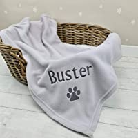 Crumbleberry Personalised Pet Blanket. Ideal for Dog Blanket, Cat Blanket, Puppy or Kitten. Soft, Cute And Warm. Super Soft Fleece Personalised Pet Blanket. 75cm x 100cm