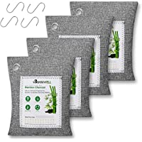 Deodoranti al Carbone di Bambù - Sacchetti Deumidificatori Armadio Antimuffa Naturale, Purificatore Aria Deodorante…