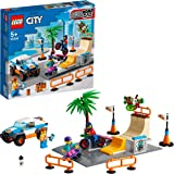 LEGOCitySkatePark,PlaysetconSkateboard,BiciBMX,CamionGiocattoloeMinifigurediAtletasuSediaaRotelle,60290