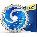 FALKENWALD ® Sågblad 136 x 20 mm perfekt för trä – cirkelsågblad 136 x 20 kompatibel med dyksåg och cirkelsåg från Bosch & Ma