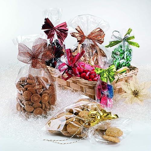 Italpak Bustine Trasparenti, Sacchetti per Alimenti, Sacchettini Confetti, Caramelle, Biscotti, 100 pz, 4,5x7cm, X000000040700