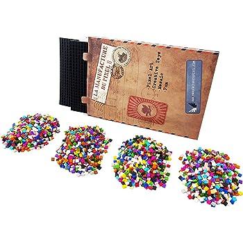 La Manufacture du Pixel Kit deux tapis et 3600 pixels à insérer (Noir) - Pixel Art, Loisir Créatif, Mosaïque, Fun ! - Créez à l'infini tout l'art qui vous ressemble