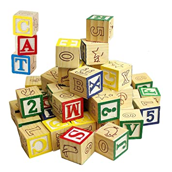 Building Blocks With Letters On Them