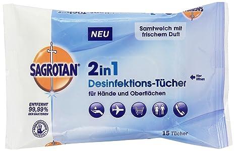 Sagrotan 2 in 1 Desinfektionstücher für Hände und Oberflächen