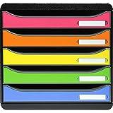 Exacompta - Réf. 309798D - BIG BOX PLUS - Caisson 5 tiroirs pour document A4+ - Dimensions extérieures : Profondeur 34,7 x la