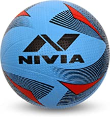 Nivia Rotator Moulded Rubber Volleyball, Adult Size 4 (Blue)