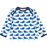 Loud + Proud Shirt Druck Aus Bio Baumwolle, Gots Zertifiziert Manches Longues, Bleu (Cobalt COB), 116 (Taille Fabricant: 110/