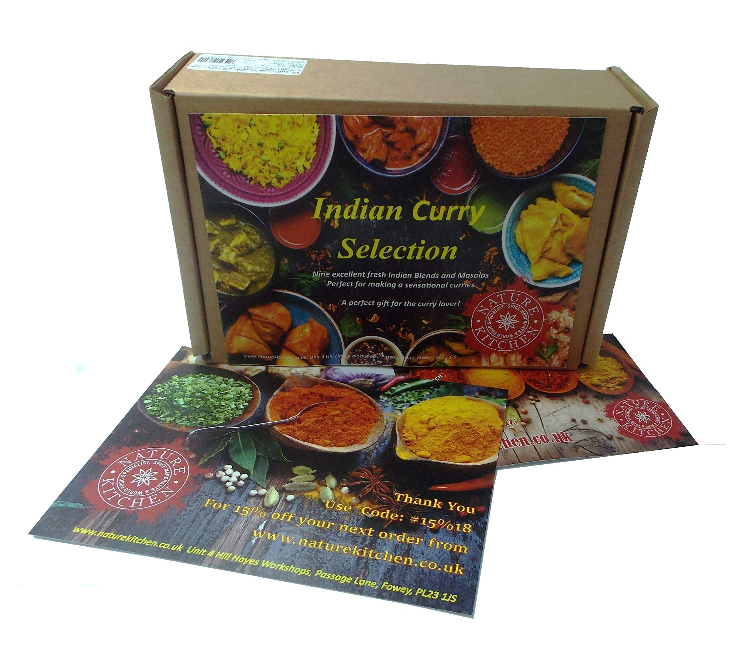Nature Kitchen Indian Spices Curry kit, Cooking Gift Set 9 Spices Blends and Masalas Selection, Gluten Free Mix Perfect… 3