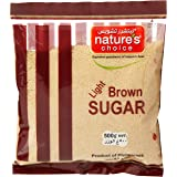 Natures Choice Light Brown Sugar Raw, 500 gm