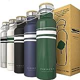 INDIGENA - Borraccia Termica Acciaio Inox 350ml/500ml/650ml, PIANTA Un Albero a Bottiglia Termica, Thermos Doppia Parete per