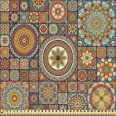 ABAKUHAUS Marocain Tissu au mètre, Est Vieux Folklorique, Tissu Satin Décoratif pour les Textiles de Maison et les Artisanats