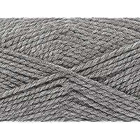 King Cole Big Value Chunky Knitting Yarn 100% Acrylic Wool 100g Ball (Grey - 547)