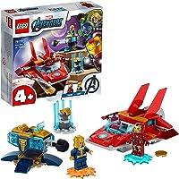 LEGO Super Heroes Marvel Avengers Iron Man vs. Thanos, Giocattoli per Bambini 4 Anni con Jet e 2 Supereroi, 76170