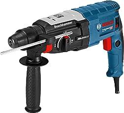 Bosch Professional Bohrhammer GBH 2-28 (880 Watt, mit SDS-plus Aufnahme, bis 28 mm Bohr-Ø, Rückschlag-Schutz, Handwerker-Koffer) schwarz/ blau