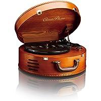 Classic Phono TT-34 - Plattenspieler - Retro Schallplattenspieler - Kofferplattenspieler - USB -Anschluss zum…