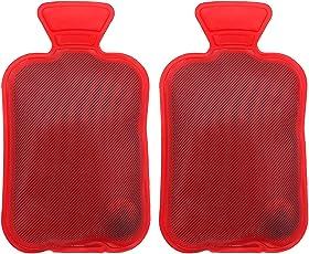 Handwärmer Taschenwärmer wiederverwendbar Fingerwärmer zum Knicken - Heizpad Firebag für Warme Hände und Finger im Winter auch als Geschenk für Kinder und Erwachsene Rot 2 Stück