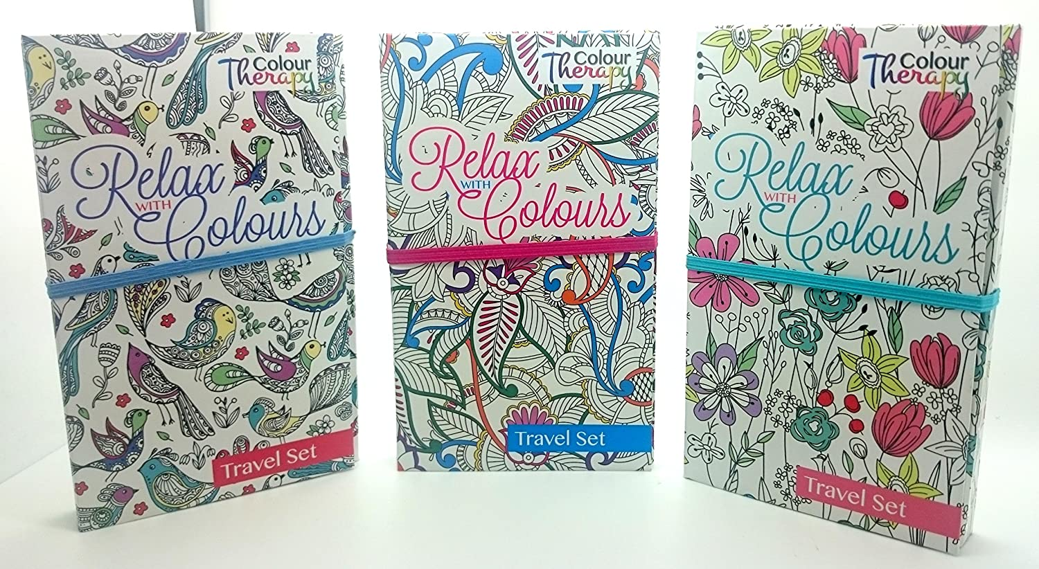 the coloring therapy relax with color art ones travel set book 6844 the flower design the coloring therapy amazoncouk kitchen home - Color Therapy Book