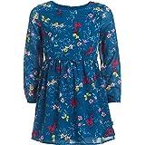 فستان بناتي من نوتيكا بأكمام طويلة ومزين بالزهور فستان كاجوال