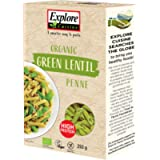 Explore Cuisine Organic Green Lentil Pasta Penne, Delicious , Plant-Based Vegan, High in Protein, High in Fibre, Gluten…