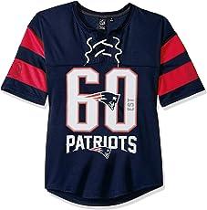 Icer Brands NFL Women's Hockey Jersey T-Shirt Mesh Lace Tee Shirt, Team Color