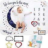Manta Mensual De Hito para Bebé, Unisex | Manta Mensual De Bebé para Fotos | Regalos Personalizados para Futuras Mamás | Regi