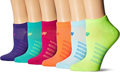 New Balance Unisex 6 Pack No Show Lifestyle Socks